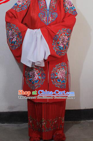 Chinese Traditional Peking Opera Diva Costumes Ancient Bride Embroidered Wedding Clothing for Women