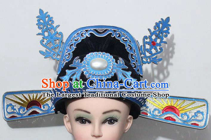 Chinese Traditional Peking Opera Number One Scholar Hat Ancient Minister Hat for Men