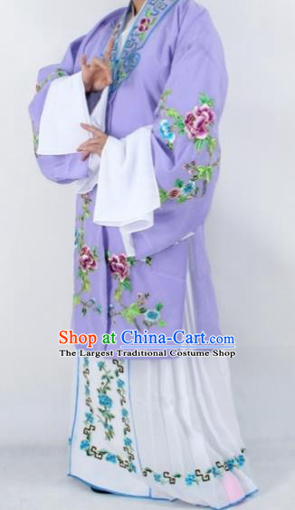 Chinese Traditional Peking Opera Actress Costumes Ancient Nobility Lady Purple Cloak for Women