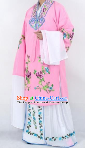 Chinese Traditional Peking Opera Actress Costumes Ancient Nobility Lady Pink Cloak for Women