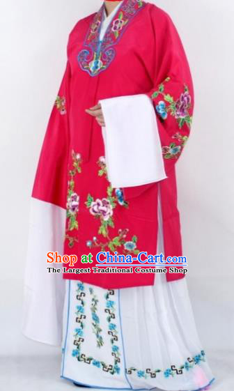 Chinese Traditional Peking Opera Actress Costumes Ancient Nobility Lady Rosy Cloak for Women