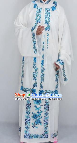 Chinese Traditional Peking Opera Nobility Lady Costumes Ancient Embroidered White Dress for Women