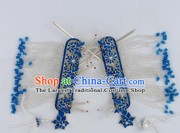 Chinese Traditional Peking Opera Side Hairpins Ancient Princess Hair Accessories for Women