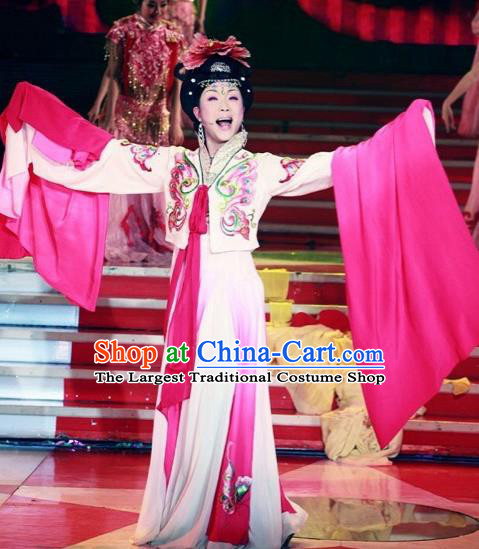 Traditional Chinese Tang Dynasty Classical Dance Embroidered Costumes Ancient Imperial Consort Hanfu Dress for Women