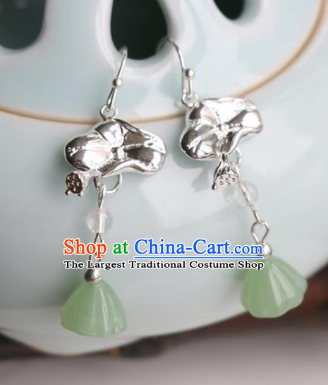 Chinese Traditional Jewelry Accessories Ancient Hanfu Lotus Seedpod Earrings for Women