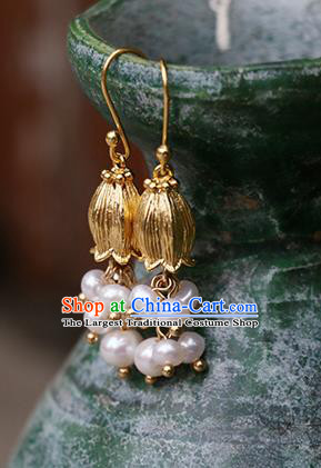 Chinese Traditional Jewelry Accessories Ancient Hanfu Convallaria Majalis Earrings for Women