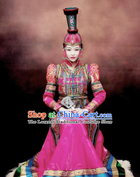 Chinese Traditional Mongol Ethnic Costumes Mongolian Minority Nationality Dance Clothing for Women