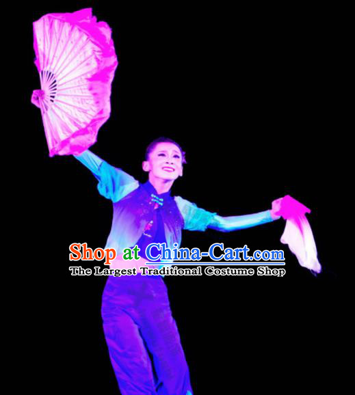 Chinese Traditional Classical Dance Costumes Folk Dance Yangko Fan Dance Clothing for Women