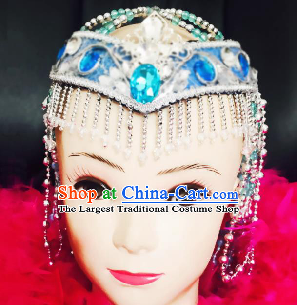 Chinese Traditional Dai Minority Nationality Folk Dance Hair Accessories for Women
