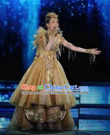 Chinese Traditional Classical Dance Costumes Chorus Stage Performance Dress for Women
