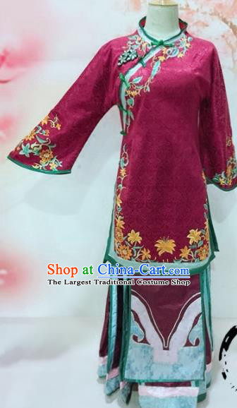 Traditional Chinese Qing Dynasty Historical Costumes Ancient Imperial Consort Embroidered Clothing for Women