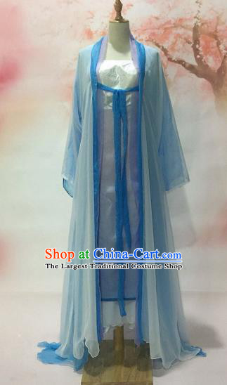 Traditional Chinese Tang Dynasty Historical Costumes Ancient Fairy Princess Embroidered Dress for Women