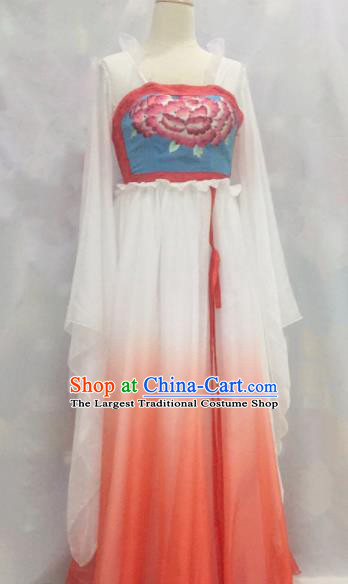Traditional Chinese Tang Dynasty Historical Costumes Ancient Palace Lady Embroidered Dress for Women