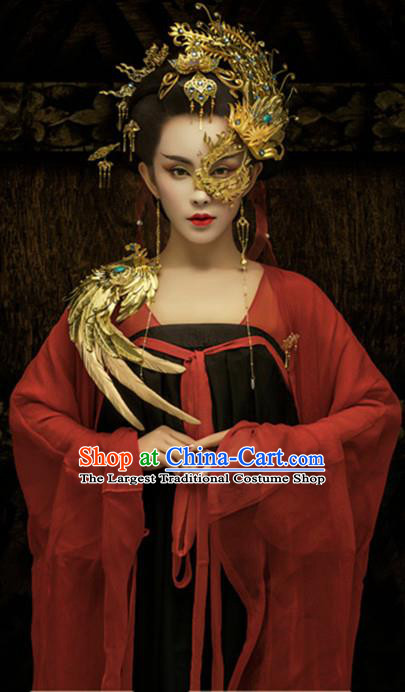 Traditional Chinese Ancient Tang Dynasty Imperial Consort Embroidered Costumes for Women