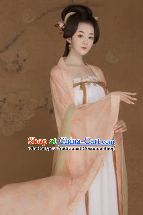 Traditional Chinese Ancient Tang Dynasty Princess Costumes for Women