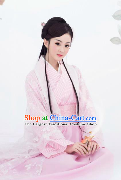 Traditional Chinese Ancient Han Dynasty Princess Costumes for Women