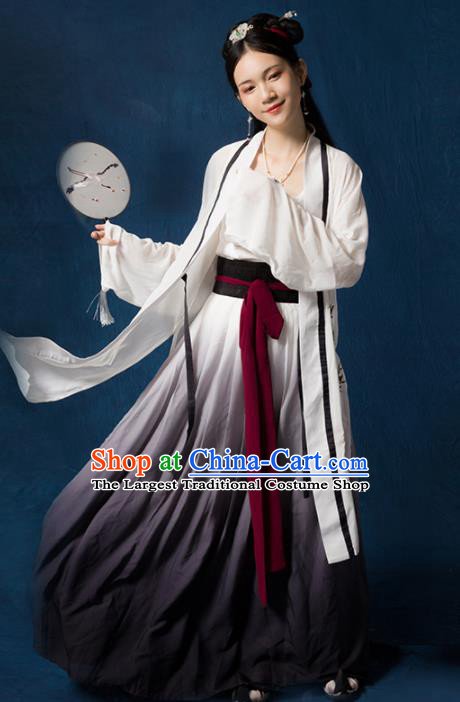 Traditional Chinese Ancient Song Dynasty Nobility Lady Embroidered Costumes for Women