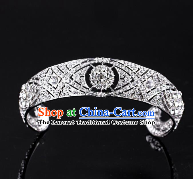 Baroque Wind Hair Accessories Bride Retro Rhinestone Royal Crown for Women