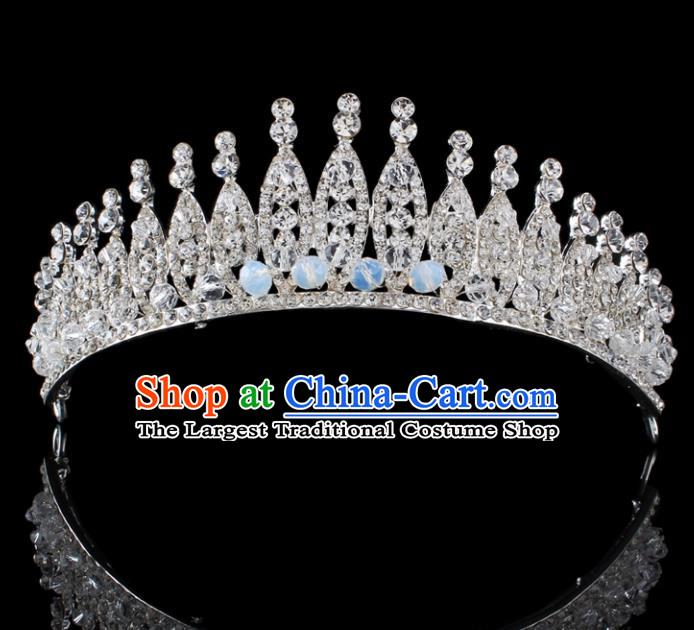 Top Grade Baroque Style Handmade Princess Royal Crown Bride Retro Wedding Hair Accessories for Women