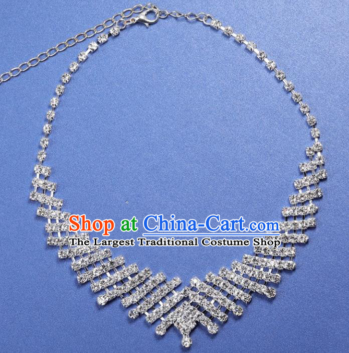 Top Grade Baroque Style Bride Jewelry Accessories Crystal Necklace for Women