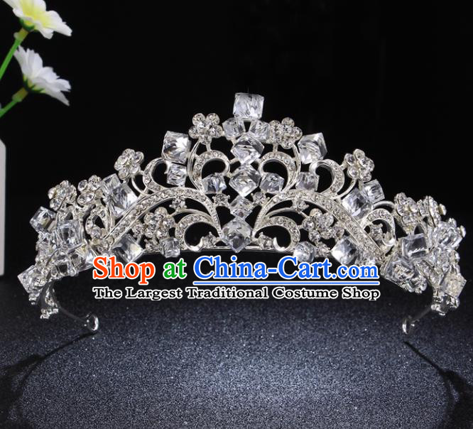 Top Grade Princess Retro Rhinestone Royal Crown Baroque Wedding Bride Hair Accessories for Women