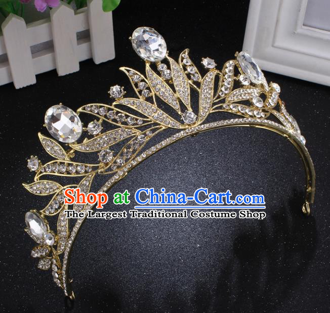 Top Grade Princess Rhinestone Royal Crown Retro Baroque Wedding Bride Hair Accessories for Women