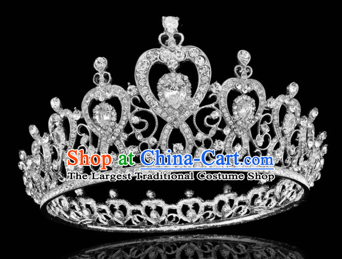 Top Grade Retro Royal Crown Baroque Queen Wedding Bride Hair Accessories for Women
