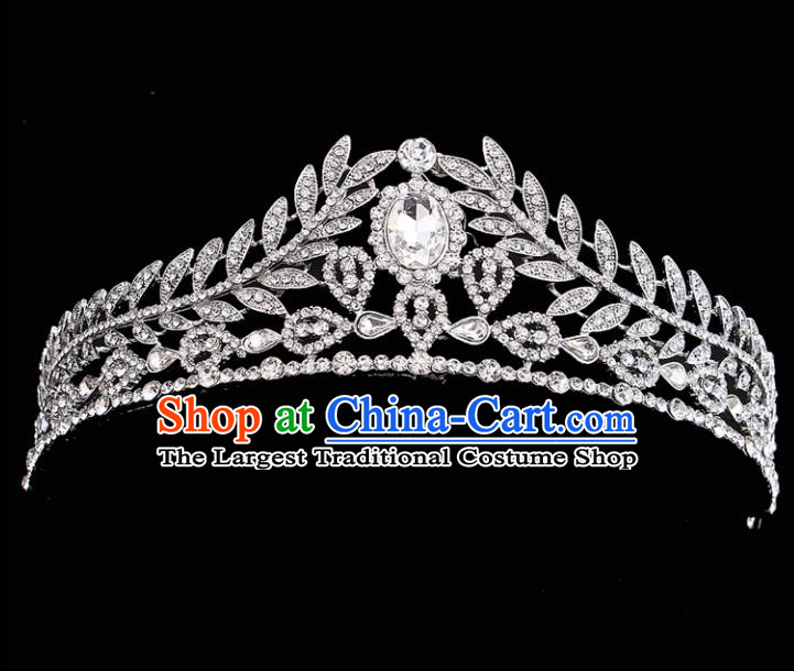 Handmade Top Grade Crystal Royal Crown Baroque Bride Retro Wedding Hair Accessories for Women