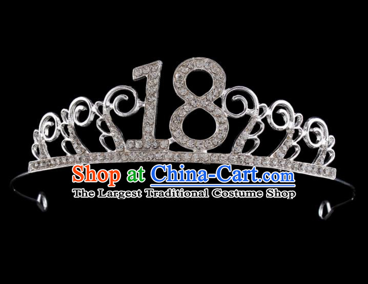 Baroque Wind Retro Hair Accessories Bride Rhinestone Royal Crown Hair Clasp for Women