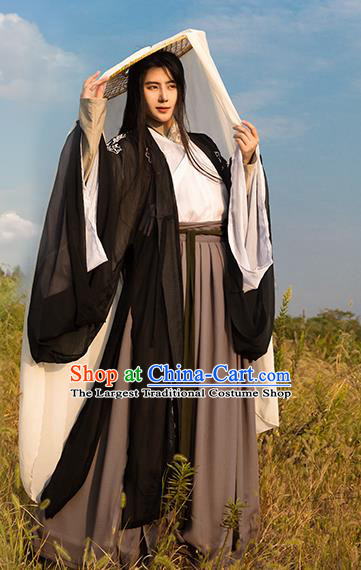 Traditional Chinese Spring and Autumn Period Nobility Childe Costumes Ancient Swordsman Clothing for Men