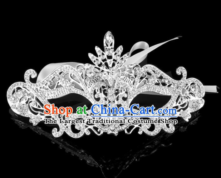 Handmade Halloween Accessories Fancy Ball Cosplay Props Crystal Masks for Women