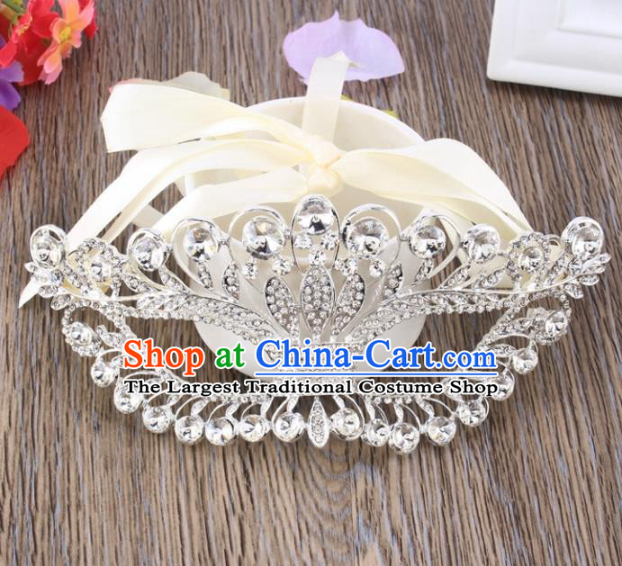 Handmade Halloween Accessories Venice Fancy Ball Cosplay Props Crystal White Masks for Women