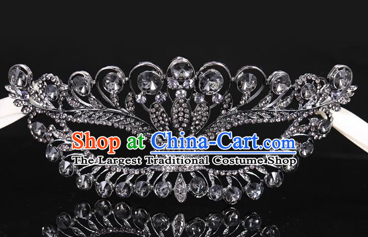 Handmade Halloween Accessories Venice Fancy Ball Cosplay Props Black Crystal Masks for Women