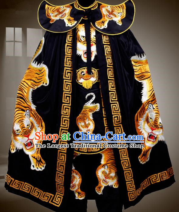 Traditional China Beijing Opera Costume Chinese Sichuan Opera Changing Faces Embroidered Tiger Cloak for Men