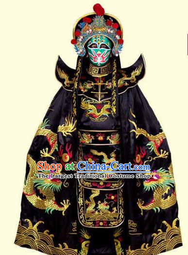 Chinese Traditional Beijing Opera Costumes Sichuan Opera Changing Faces Embroidered Clothing and Hat for Men