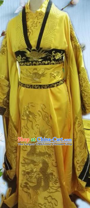 Chinese Tang Dynasty Queen Wu Zetian Embroidered Costumes Ancient Palace Hanfu Dress for Women