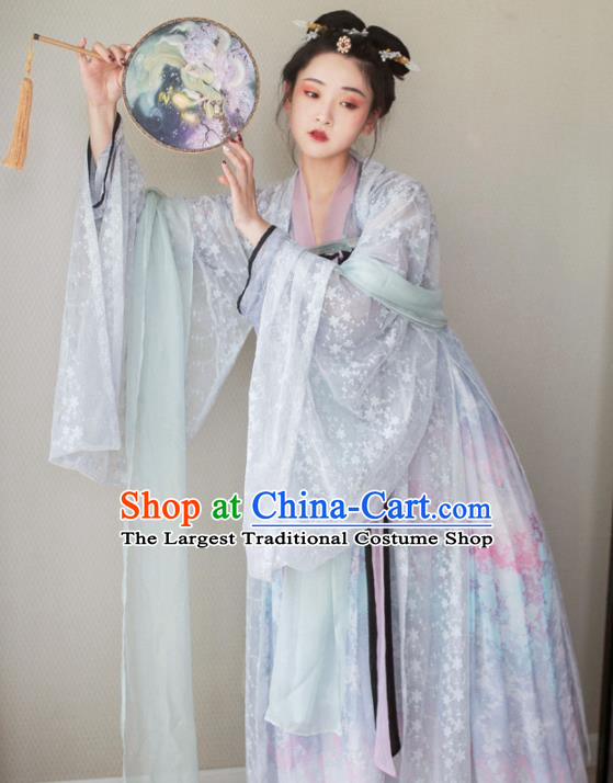 Chinese Tang Dynasty Palace Lady Costumes Ancient Peri Hanfu Dress for Women