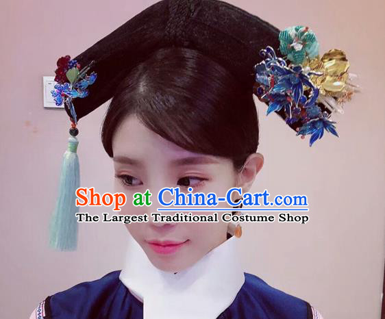 Chinese Ancient Imperial Consort Hair Accessories Qing Dynasty Hairpins for Women