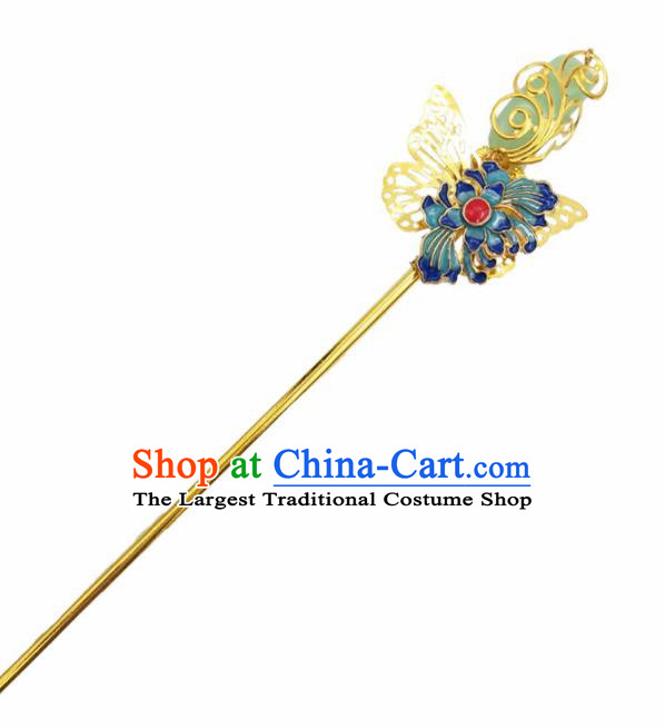 Chinese Ancient Princess Hair Accessories Palace Butterfly Hairpins for Women