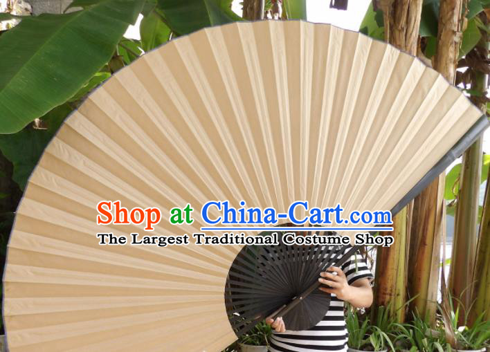 Chinese Traditional Paper Fans Decoration Crafts Handmade Black Frame Folding Fans