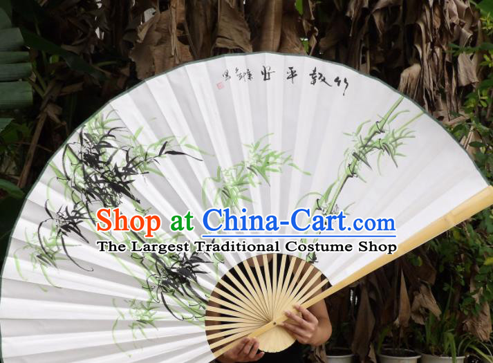 Chinese Traditional Paper Fans Decoration Crafts Handmade Printing Bamboo Wood Frame Folding Fans