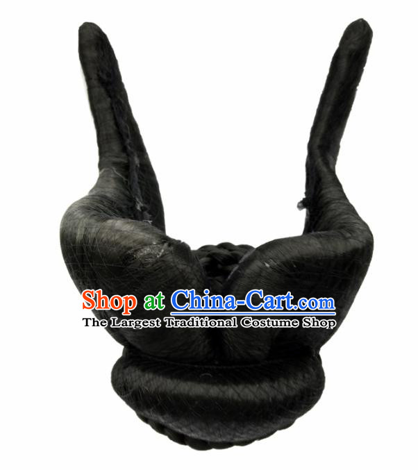 Chinese Ancient Peri Wigs Hair Accessories Tang Dynasty Princess Chignon for Women