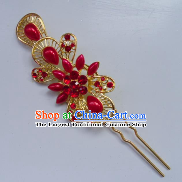 Chinese Ancient Hair Accessories Palace Golden Hairpins for Women