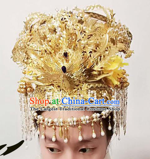 Chinese Ancient Ming Dynasty Princess Hair Accessories Bride Phoenix Coronet Hairpins for Women