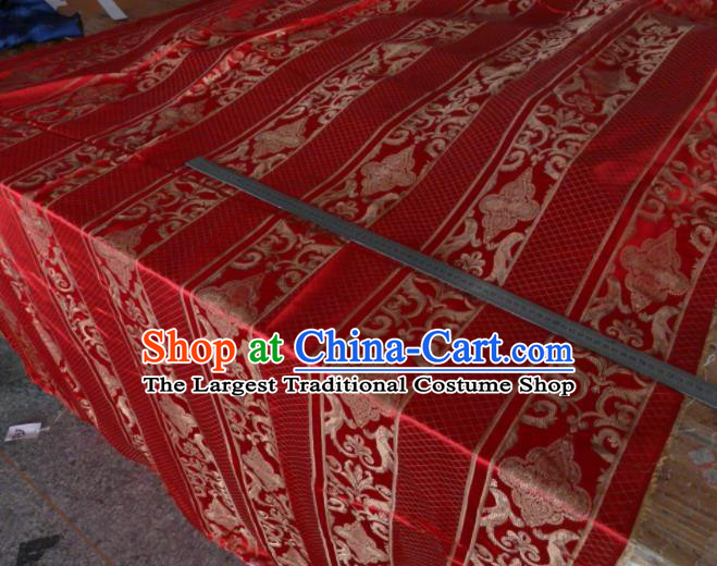 Asian Chinese Traditional Pattern Design Red Brocade Fabric Silk Fabric Chinese Fabric Material