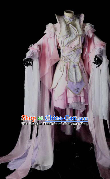 Traditional Chinese Cosplay Peri Costumes Ancient Princess Embroidered Hanfu Dress for Women