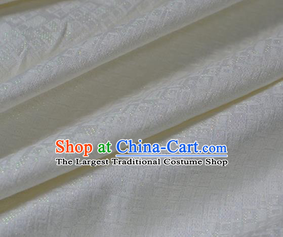 Asian Chinese Traditional White Brocade Fabric Chinese Costume Silk Fabric Material