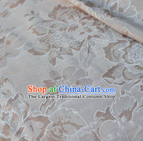 Asian Chinese Fabric Traditional Mezereon Pattern Design Brocade Fabric Chinese Costume Silk Fabric Material
