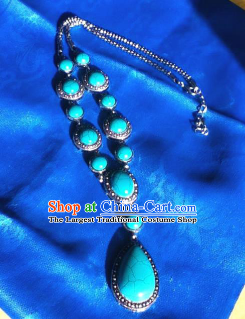 Chinese Traditional Ethnic Jewelry Accessories Mongolian Necklace for Women
