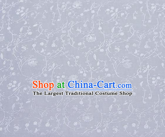 Asian Chinese Fabric Traditional Stria Pattern Design White Brocade Fabric Chinese Costume Silk Fabric Material